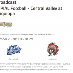 Here's the link to listen to Friday's Central Valley Game.