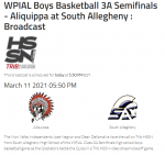 STREAM INFO ALIQUIPPA@SOUTH ALLEGHENY 3/11/21 6PM