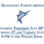 Football Mandatory PARENT meeting