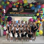 Marlin Cheerleaders help West Bay Rock Your School