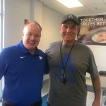 Coach Stoops with Kentucky stops by Arnold