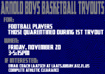 Arnold Boy Basketball Tryouts for Football Players