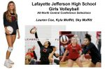 Three Volleyball Players Honored by NCC