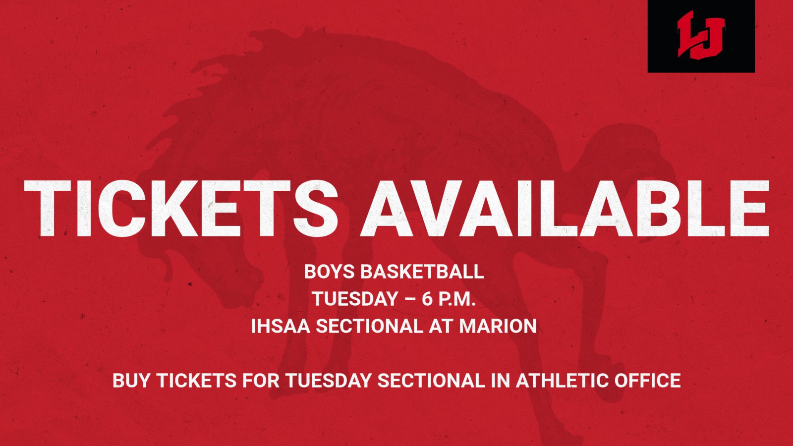Tickets Available for Tuesday Sectional Game