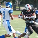 LW Football Falls to Falcons in Defensive Struggle