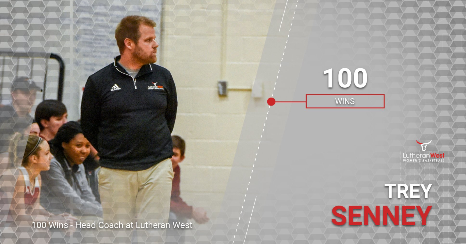 Senney Notches 100 Wins at Lutheran West