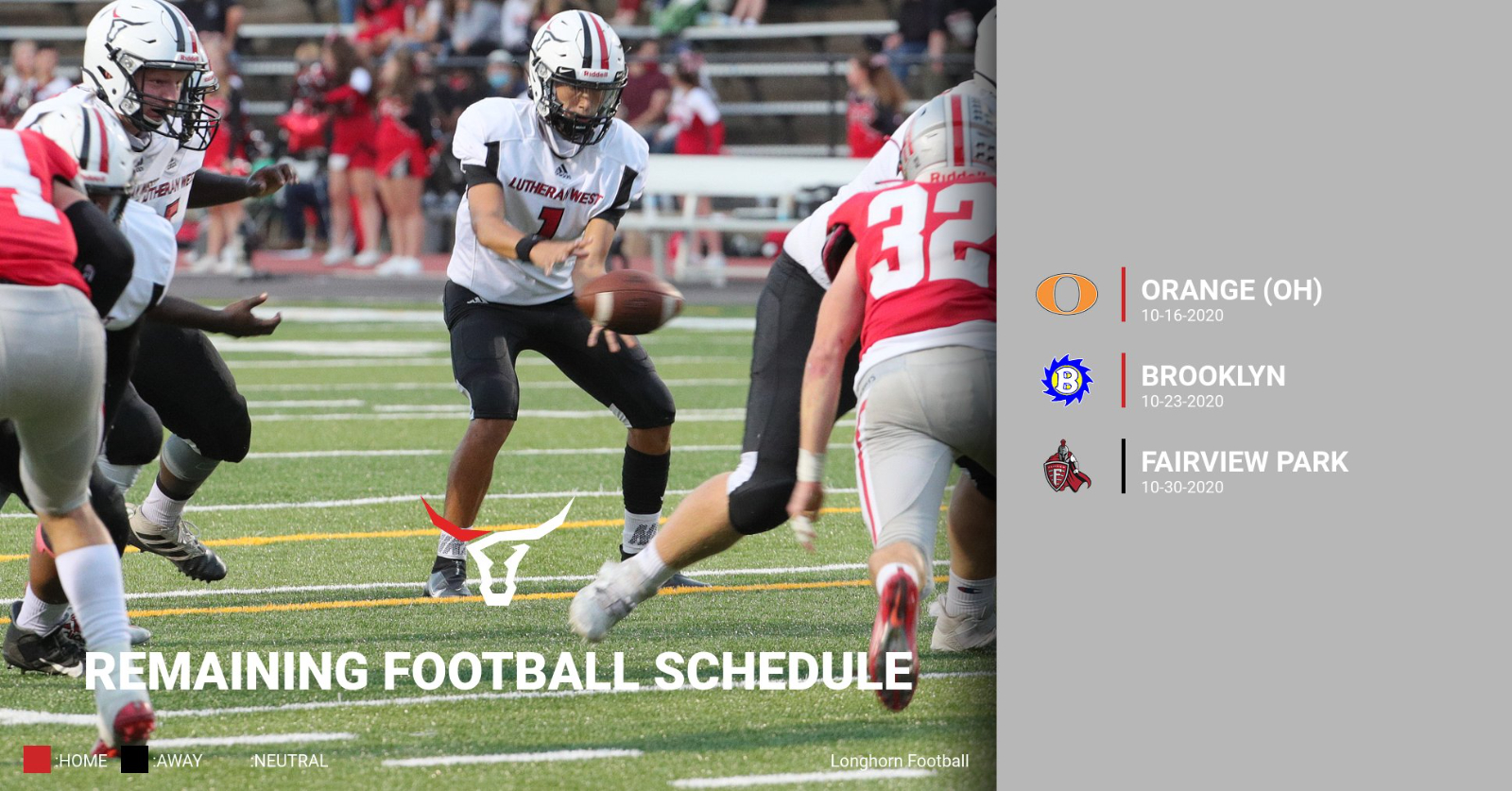 Football 2020 Remaining Schedule