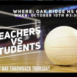 VOLLEYBALL MATCH: Teachers vs. Students