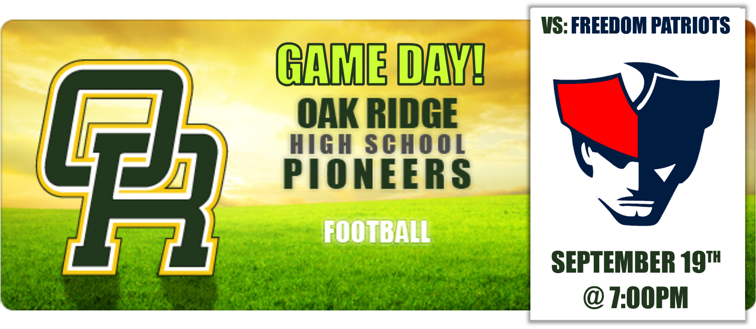 GAME DAY! – Pioneers vs Patriots