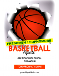 BASKETBALL TRYOUTS – FRESHMEN/SOPHOMORES