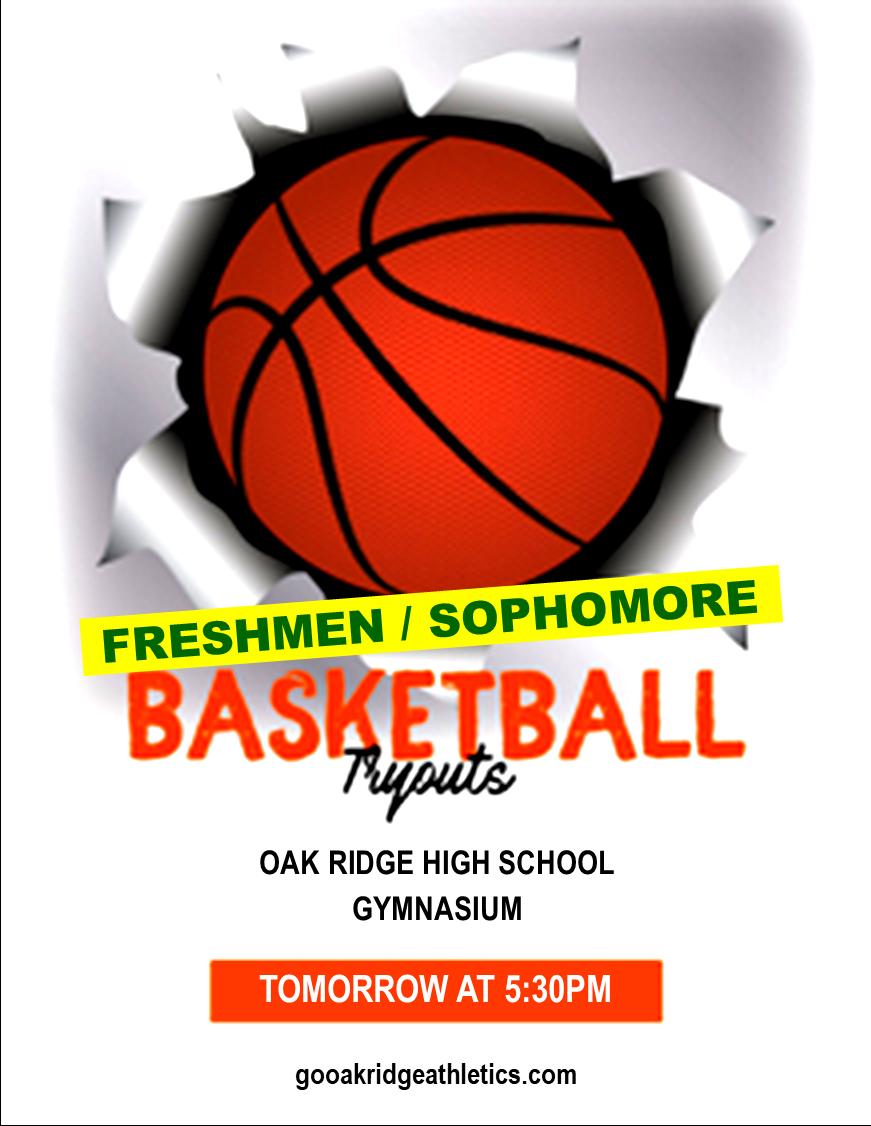 BASKETBALL TRYOUTS – FRESHMEN/SOPHOMORES