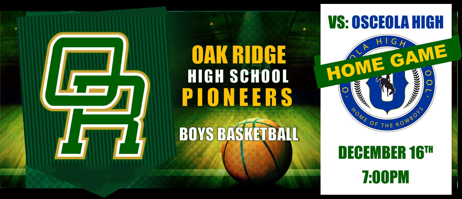 SHOWDOWN IN O-TOWN! Boys Basketball vs Osceola