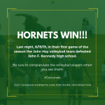 Hornets Win!!! John Hay Volleyball defeats John F. Kennedy High School