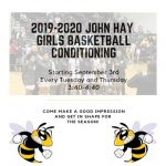 Girls Basketball Conditioning Every Tuesday & Thursday!