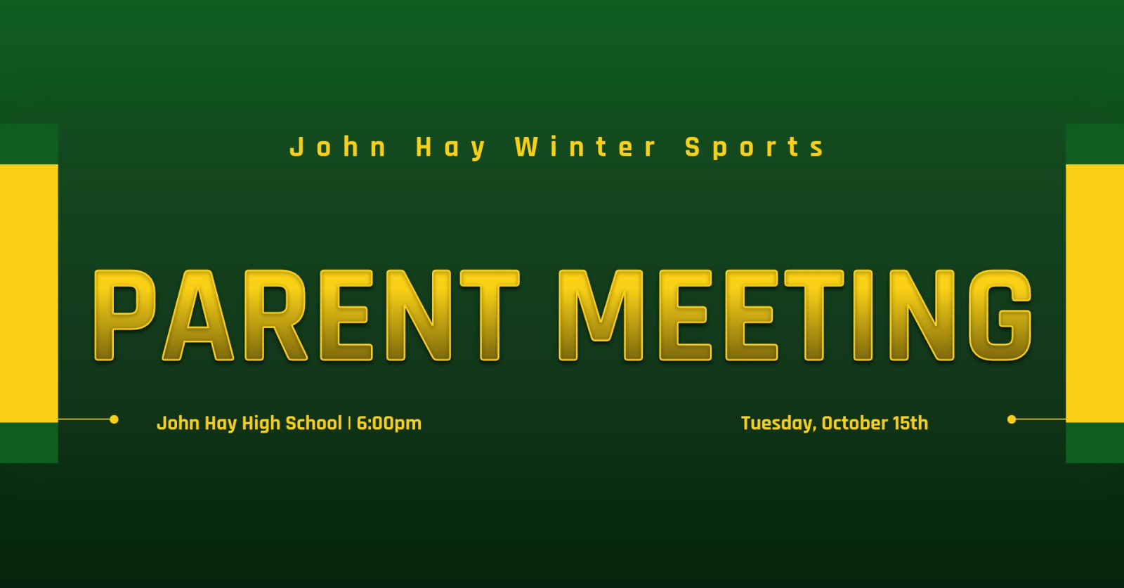 10/15 Mandatory Winter Sports Pre-Season Meeting
