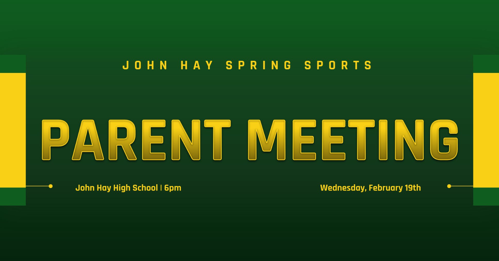 2/19 Spring Sports Preseason Parent Meeting