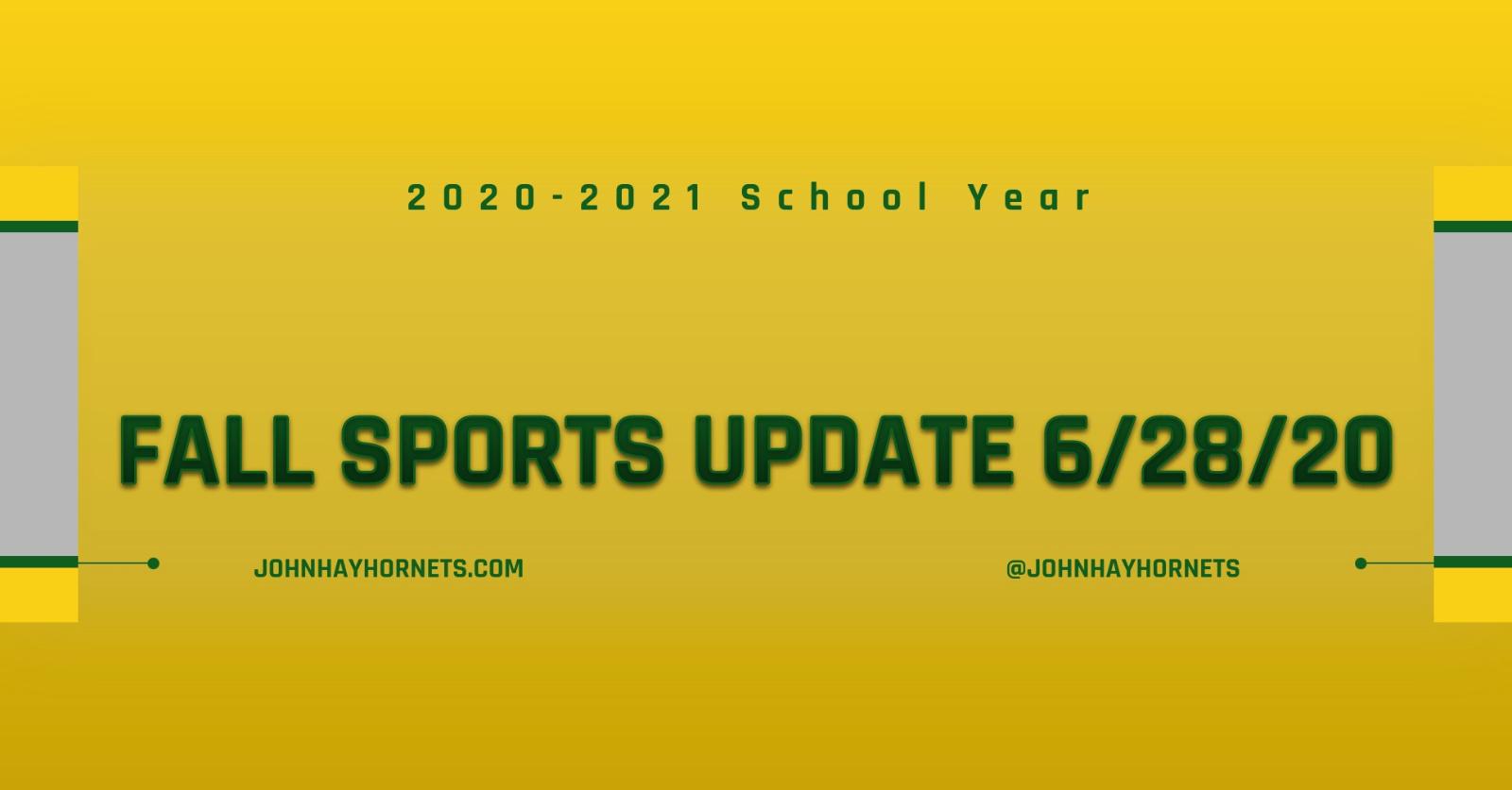 2020-2021 Fall Sports Update
