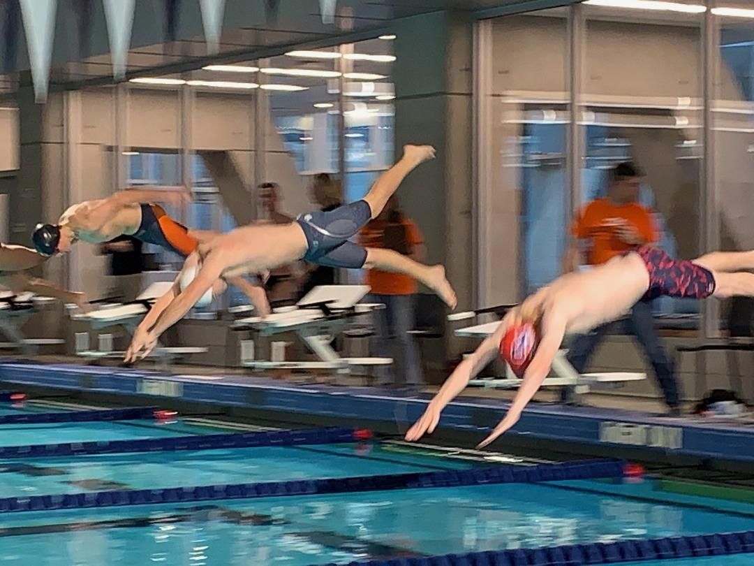 1-2-3 Finish in the 50 Free Highlights Duel Meet