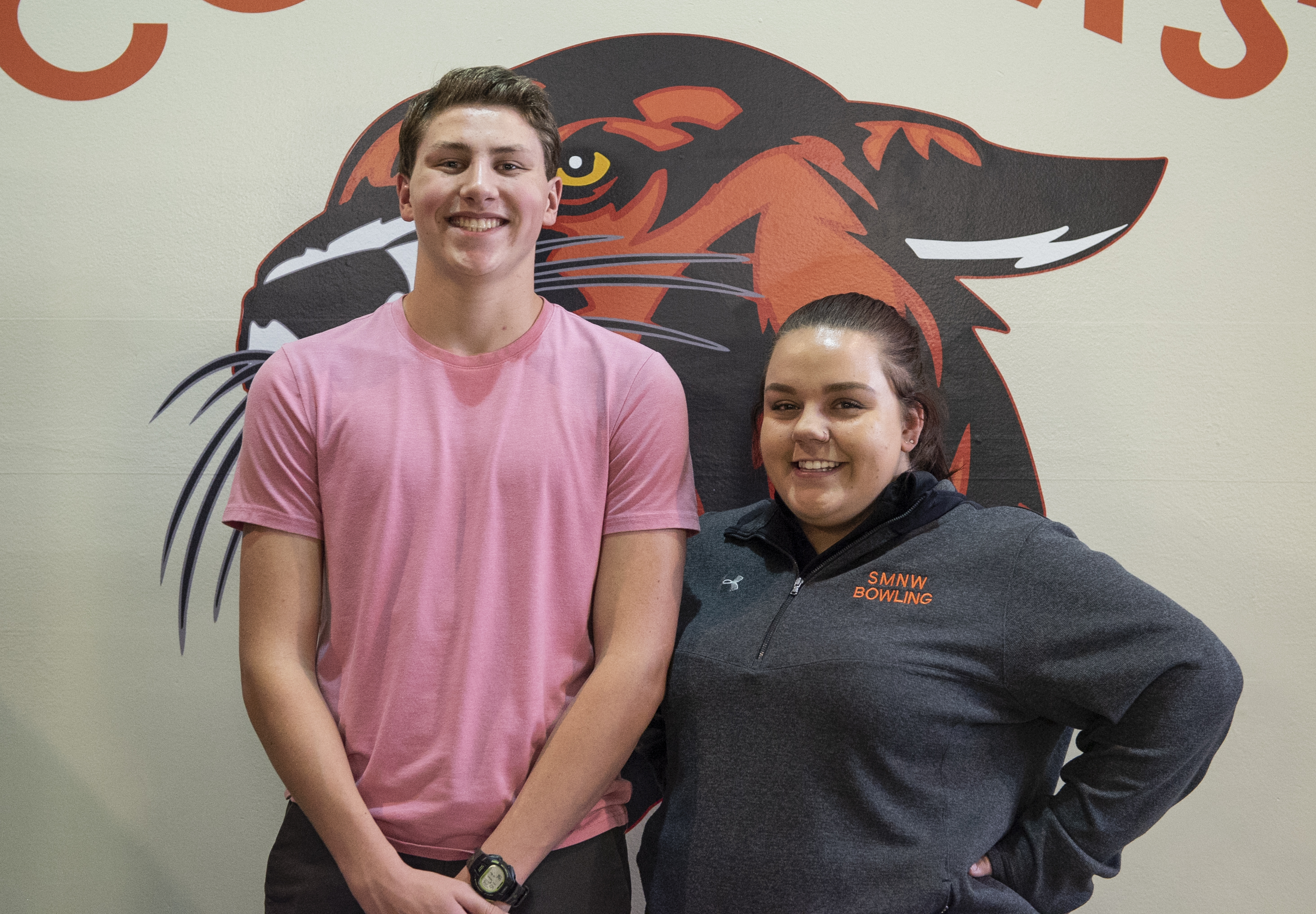 Bolin and Harrell Recipients for SMNW January Student Athletes