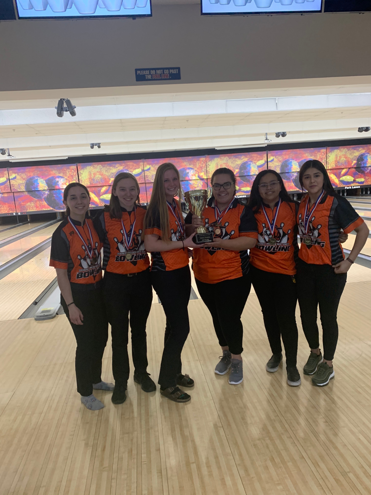 Lady Cougar Bowlers defend SM District Cup Title