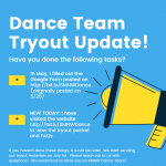 Dance Team Tryout Packet & Updates!