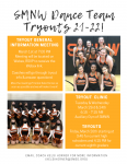 Dance Team Tryout Meeting – MONDAY!