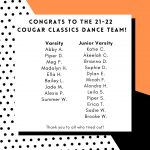 Dance Team Tryout Results