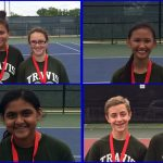 Temple middle school tennis winners at Big Red Tourney