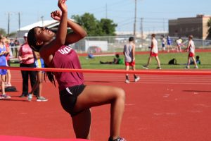 Lamar Girls Track & Field at the District Meet
