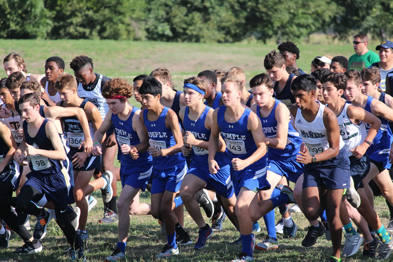 Madsen top finisher for JV Boys Cross Country at the Temple Invitational