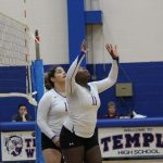 Freshman White volleyball rallies to defeat Rudder