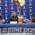 Three Temple football players sign letters of intent