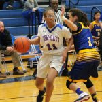 JV girls basketball split with Midway and Cove