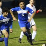 JV boys A soccer wins district opener