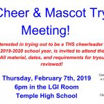 2019-20 Temple High Cheerleading Tryout Information