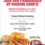 Support Wildcat Wrestling at Raising Cane's on Wednesday
