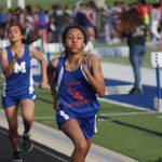 Bonham girls 8th grade track results at the Travis Invitational