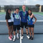 Tennis teams complete pre-district tuneup