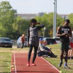 Travis 8th Grade Boys at the District Meet Day 1