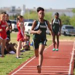 Travis 7th and 8th Grade Girls Track at the District Meet - Day 1