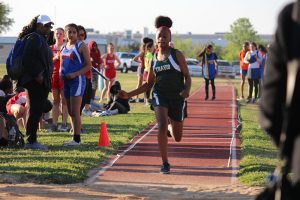Travis 7th and 8th Grade Girls Track at the District Meet – Day 1