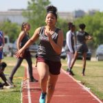 Lamar 7th and 8th Grade Girls Track at the District Meet - Day 1