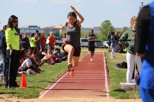 Lamar 7th and 8th Grade Girls Track at the District Meet – Day 1