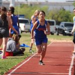 Bonham 7th Grade Girls Track at the District Meet - Day 1