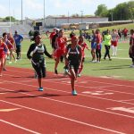 Travis Girls 7th and 8th Grade Track at the District Meet - Day 2