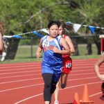 Bonham Girls 7th Grade Track at the District Meet - Day 2