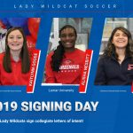 Three Lady Wildcats sign collegiate letters of intent