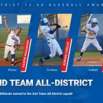 Three Wildcats named to the 2nd Team All-District baseball squad