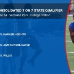 Temple schedule for A&M Consolidated 7 on 7 State Qualifier