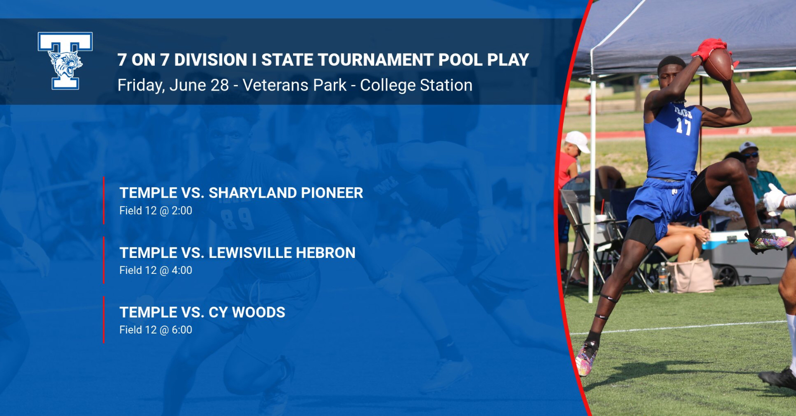 7 on 7 schedule for state tournament